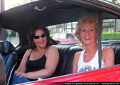 Linda and Barbara get to the location shoot in style!